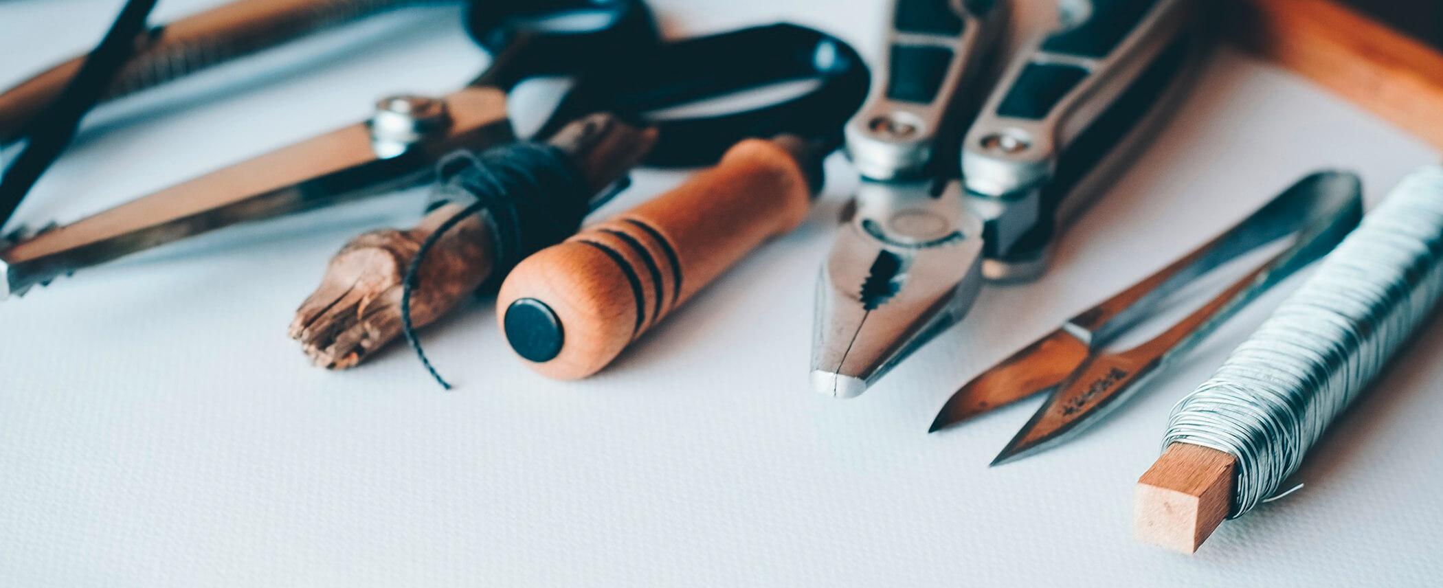 Illustration des outils de communication et de la création de contenus